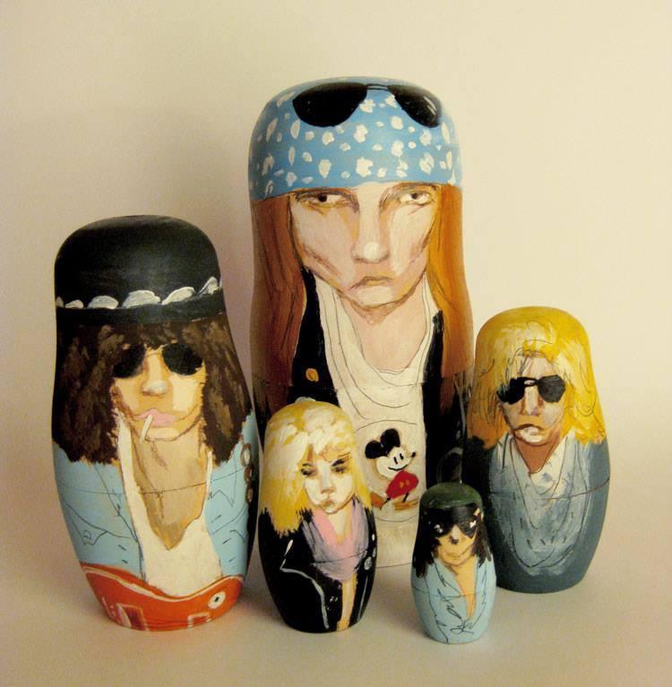 Pop Culture Russian Dolls Roses
