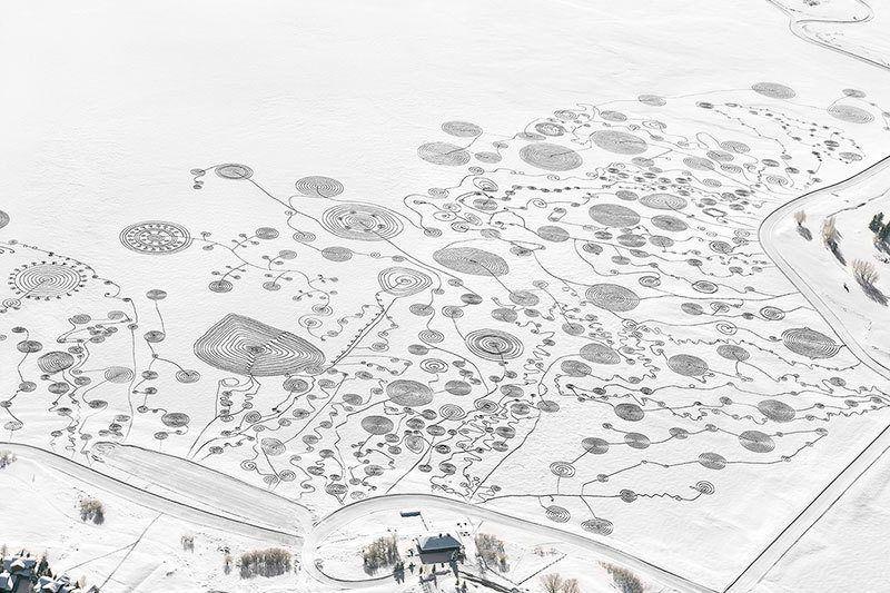 Snow Drawings Aerial View