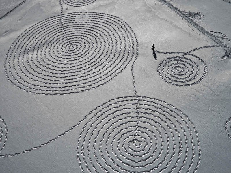 Snow Art in Steamboat, CO