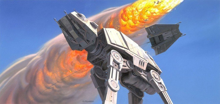 Ralph McQuarrie AT-AT Walker Design