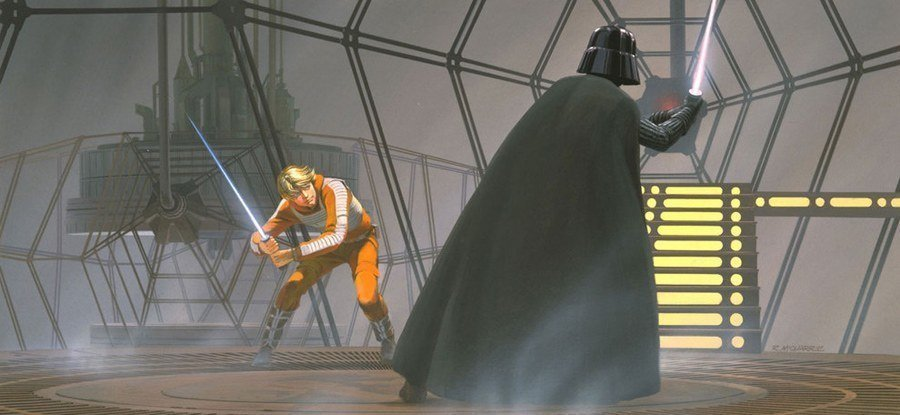 Concept Design For Luke Skywalker And Darth Vader Fight