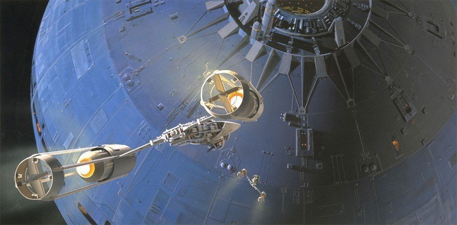 Ralph McQuarrie Rendition Of The Death Star