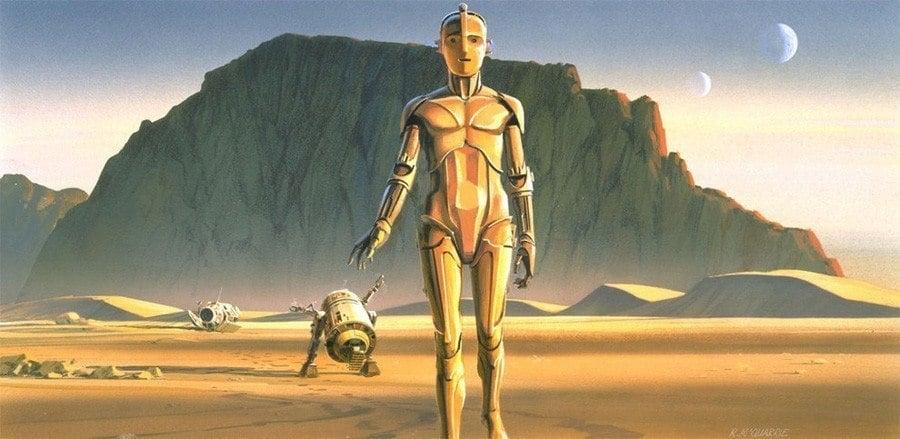 Ralph McQuarrie Desert Droids