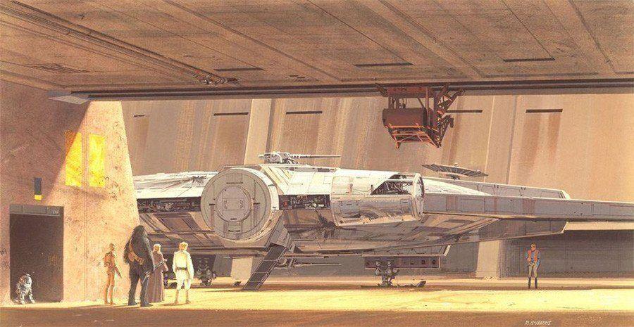 Ralph McQuarrie Falcon Docked