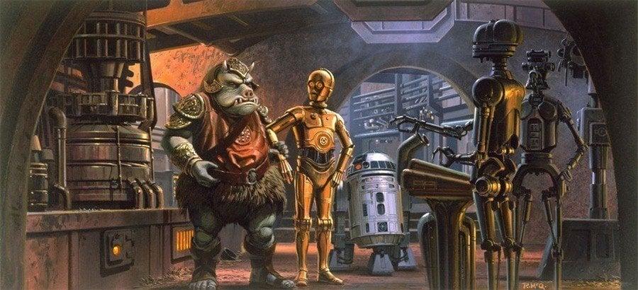 Ralph McQuarrie Concert Art Of Jabba's Barge