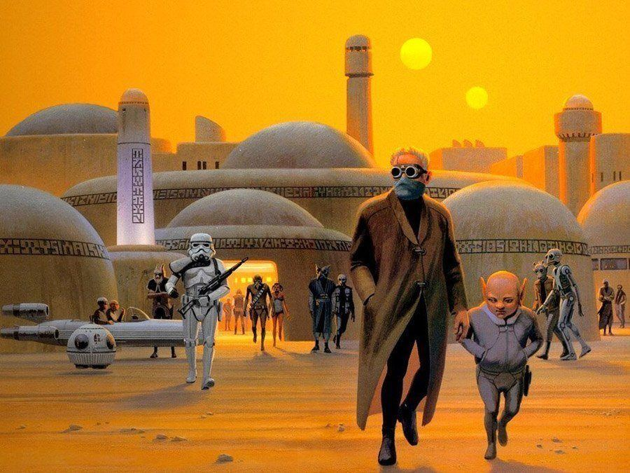 Mos Eisley Star Wars Concept Art By Ralph McQuarrie