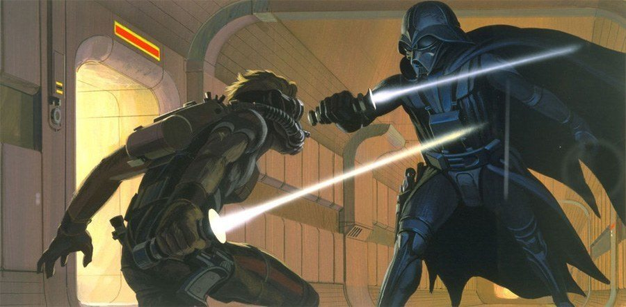 Ralph McQuarrie Vader Fight