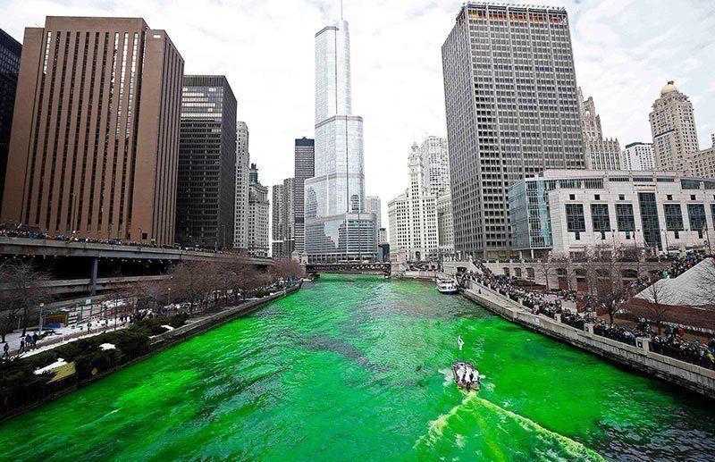 Chicago River St. Patricks Day