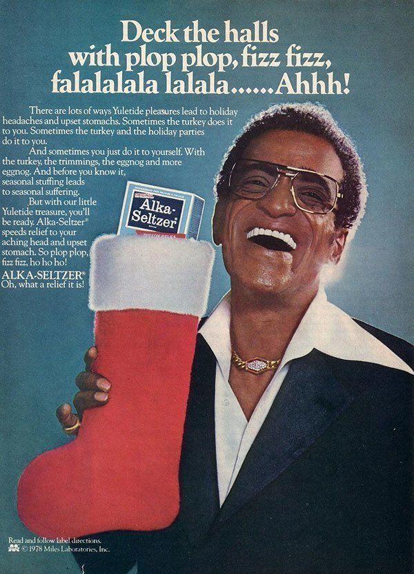 Alka Seltzer Vintage Christmas Ad