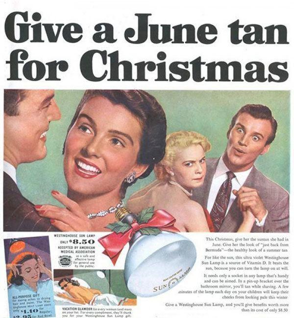 Vintage Fake Tanning Ads
