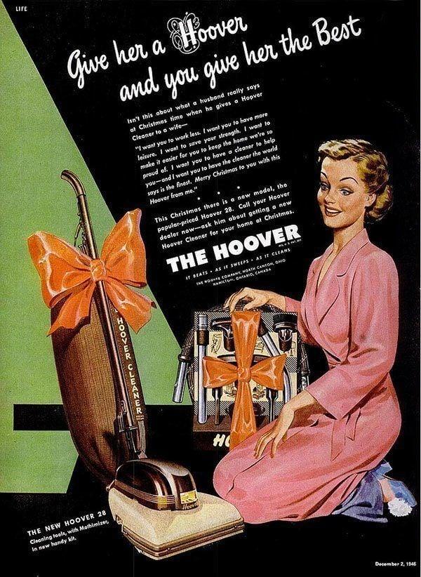 Sexist Vintage Hoover Ads