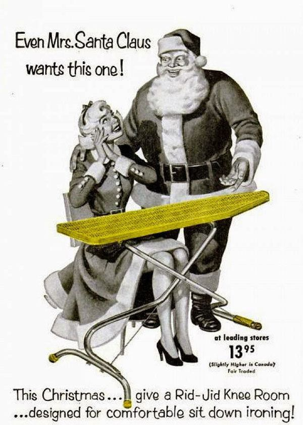 Ironing Board Christmas Ads