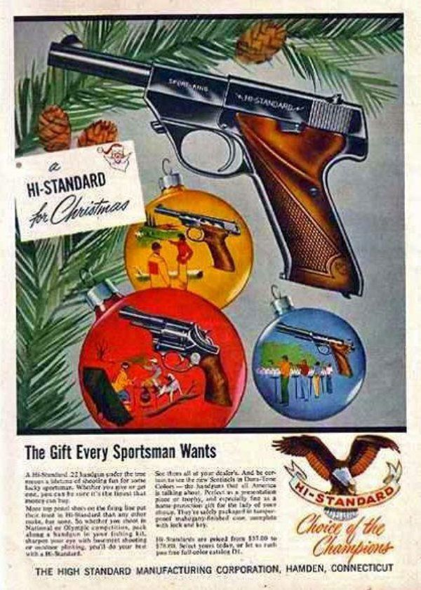 Vintage Christmas Gun Ads