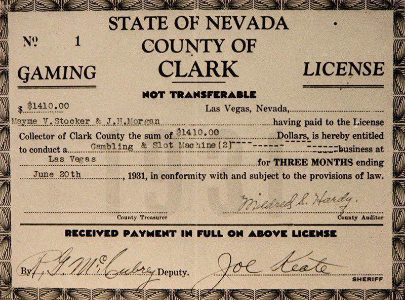 First Las Vegas Gaming License