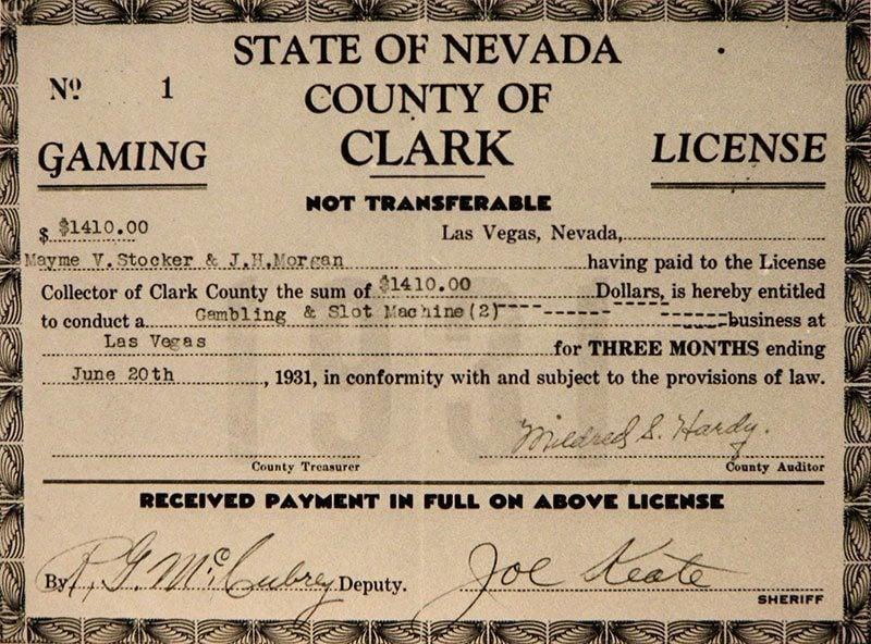 First Las Vegas Gaming License