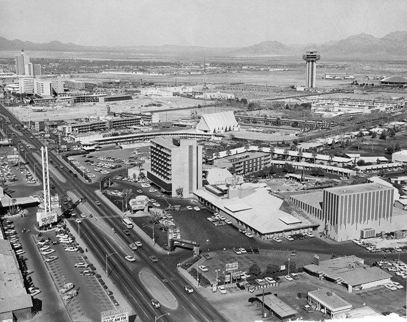 Vintage Las Vegas Aerial View
