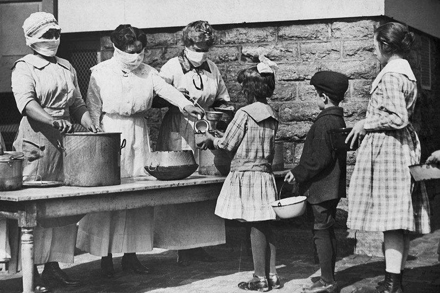 Volunteers Feeding