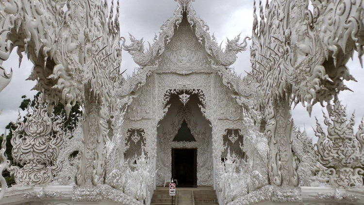 Entrance Of Wat Rong Khun Temple