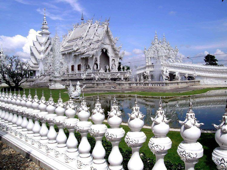 White Temple Fence