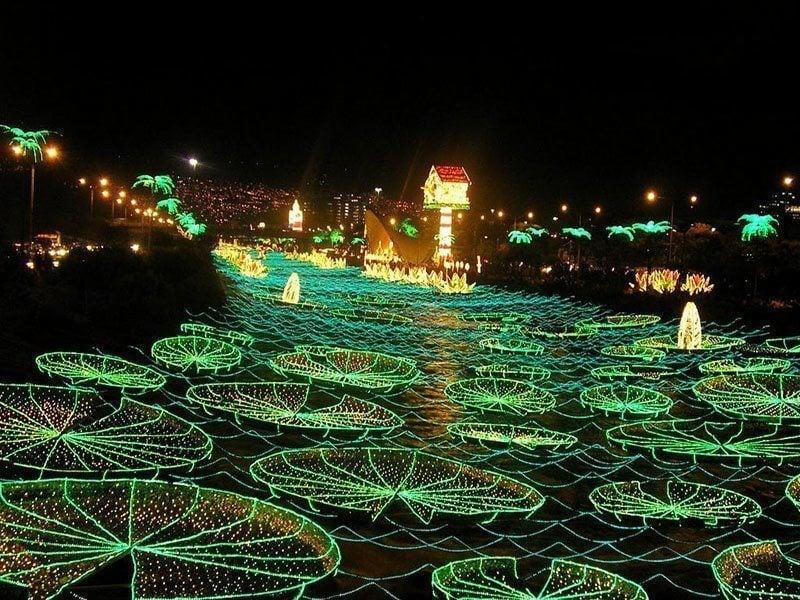 Winter Lights on Medellin River