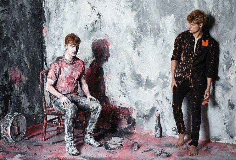 Alexa Meade Art Redhead Twins