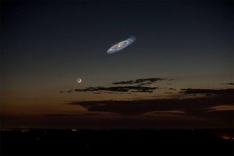 Digital Rendering of Andromeda Galaxy