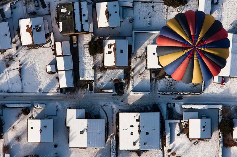 Aerial View of Balloon Festival