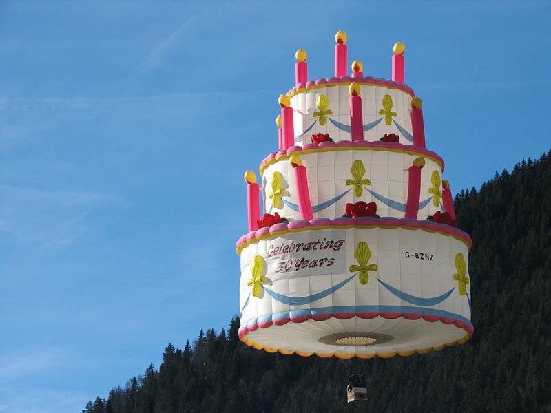 Birthday Cake Balloon Festival