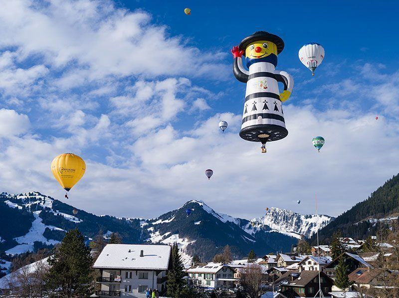 French Balloonist Swiss Alps