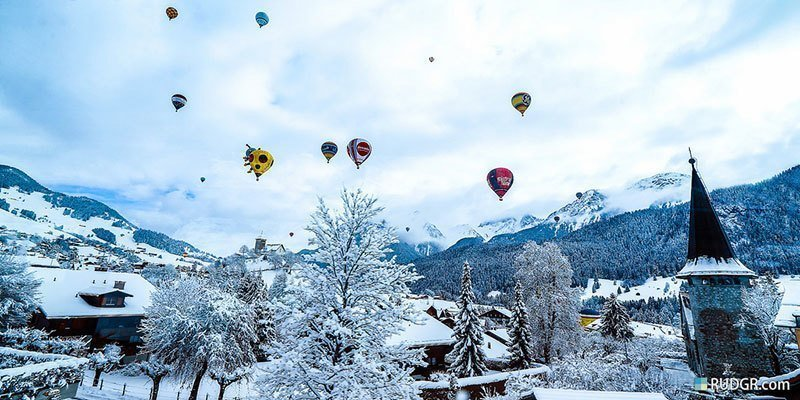 Balloons from Golden Pass Train Line