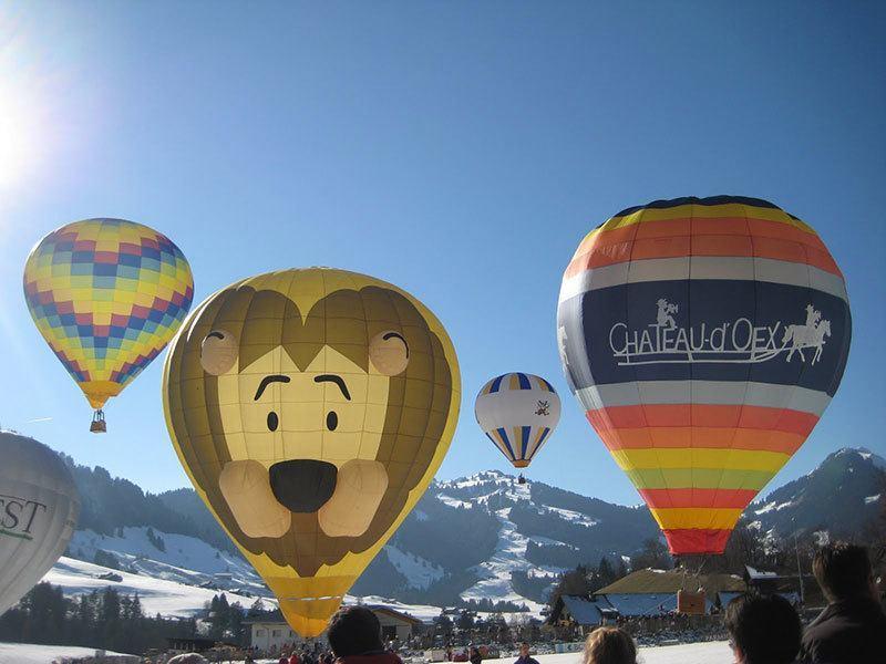 Lion Hot Air Balloon Switzerland