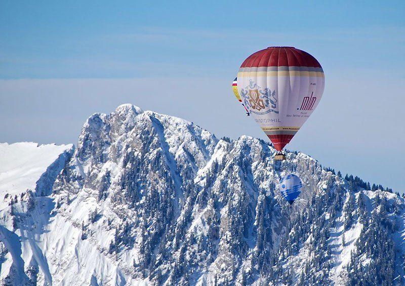 Balloon Festival in Swiss Alps