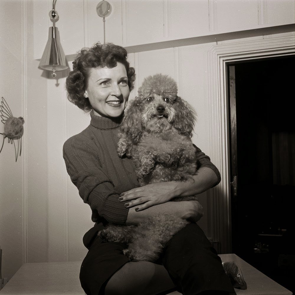 Betty White And A Poodle