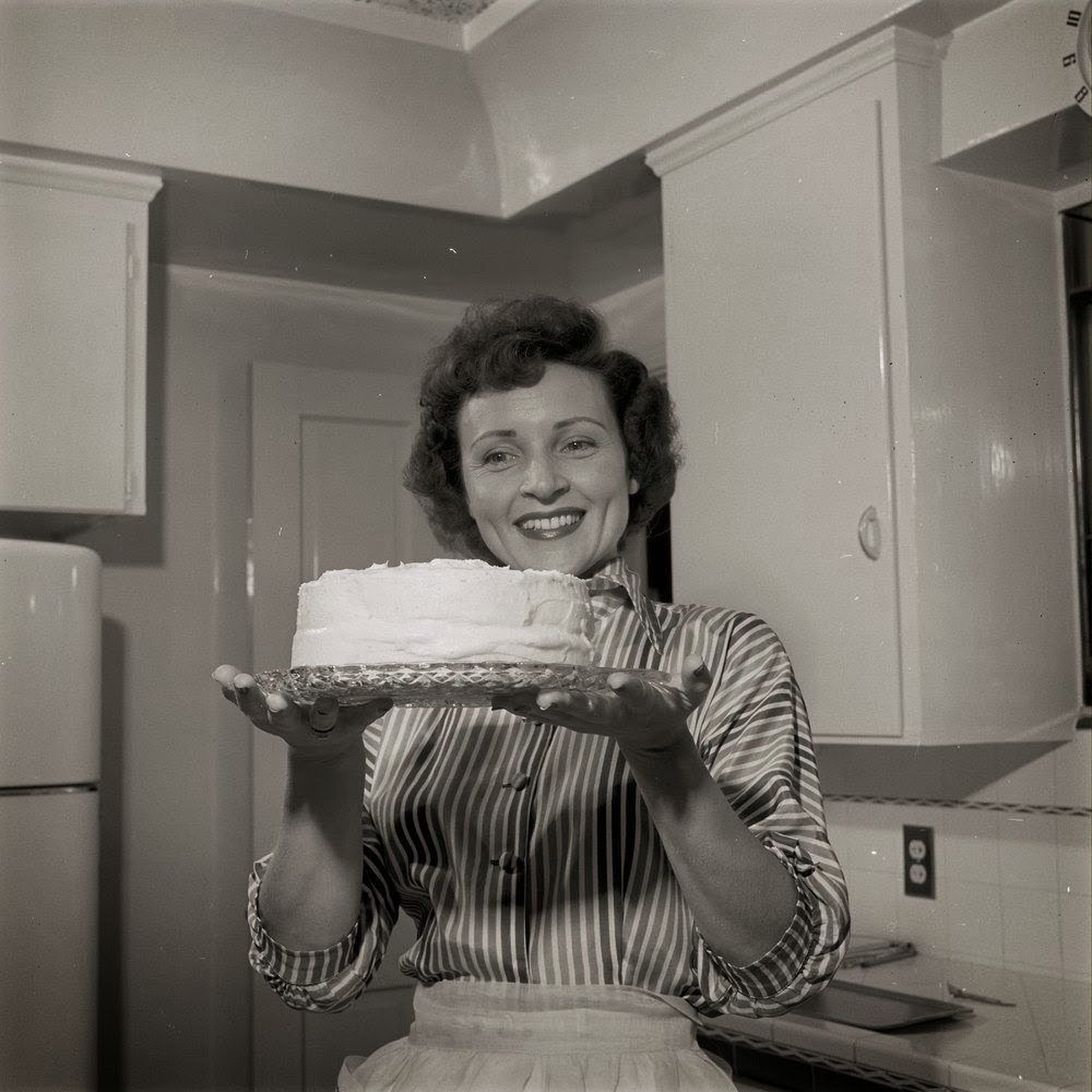 Young Betty White Baking