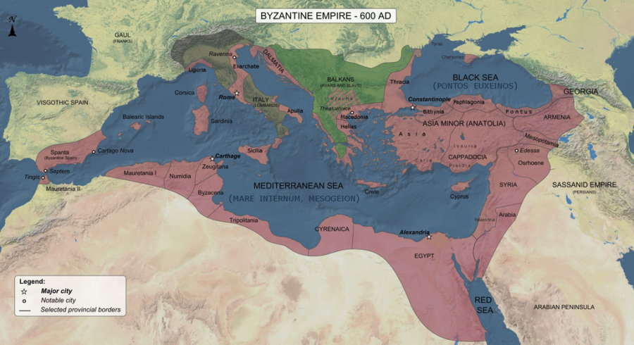 Byzantine Empire In 600 AD