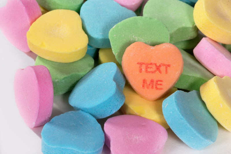 Candy Hearts Text