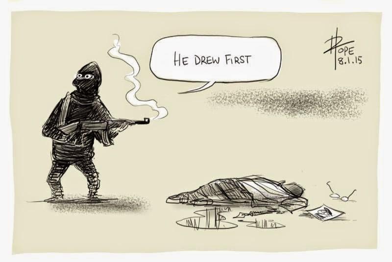 Charlie Hebdo Comics Protest