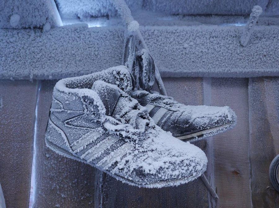 coldest city frosted shoes