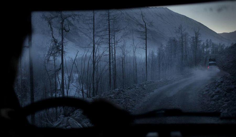 coldest city frozen road