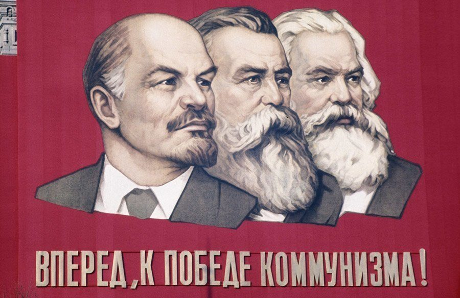 Lenin Engels And Marx Communist Poster