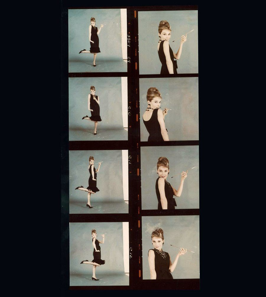 Aubrey Hepburg Contact Sheet For Breakfast At Tiffany's