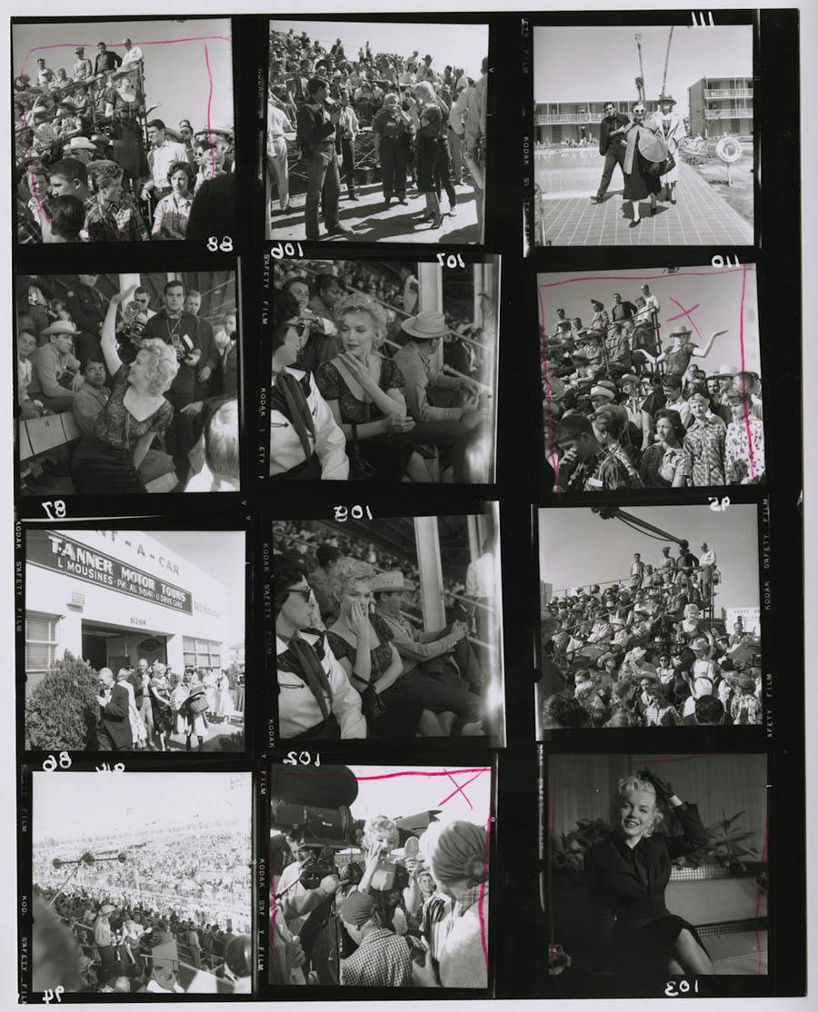 hollywood contact sheets marilyn monroe bus stop