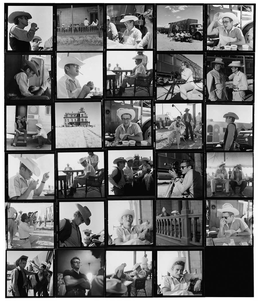 hollywood contact sheets giant james dean
