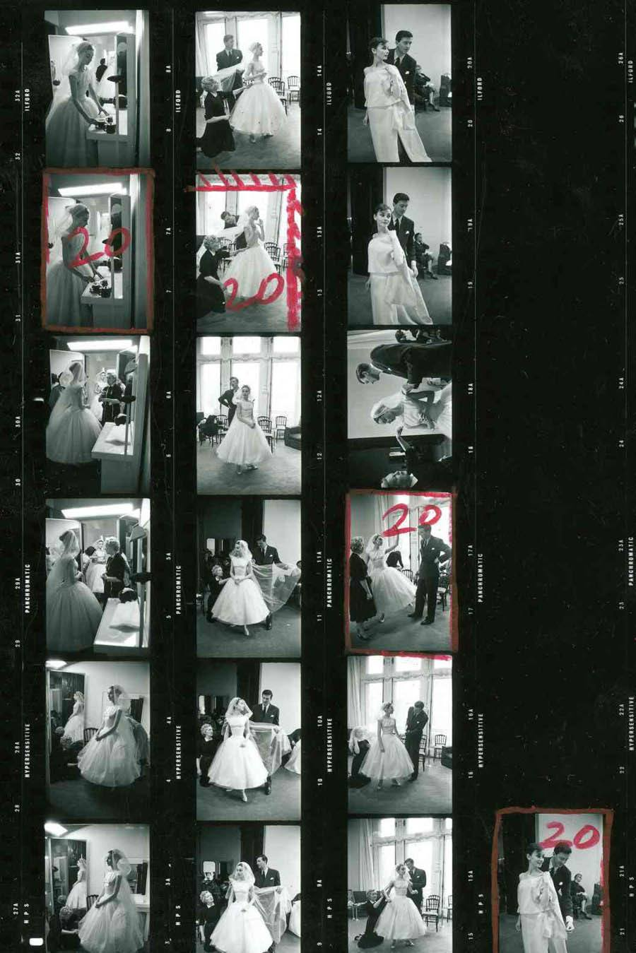 contact sheets funny face audrey hepburn