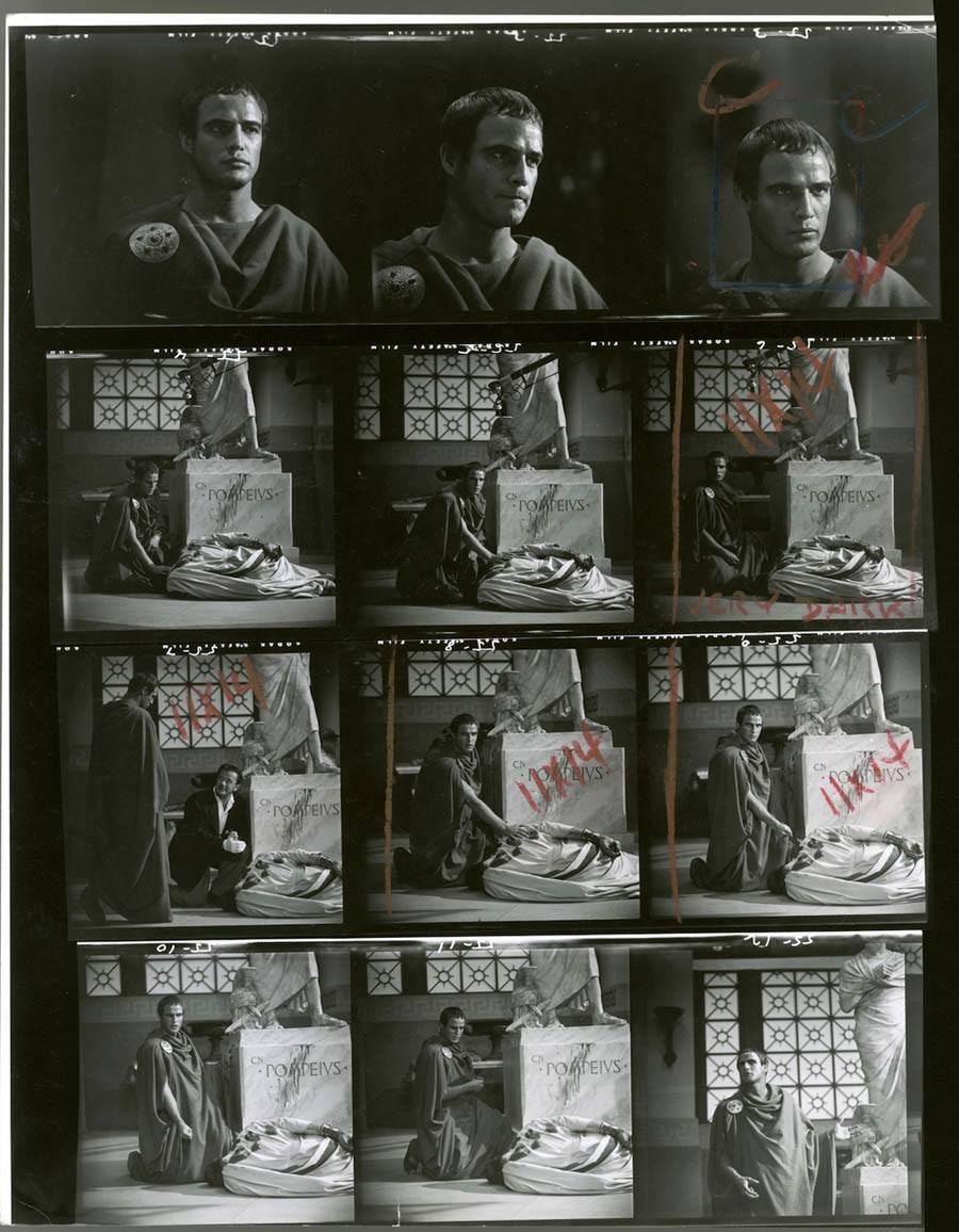 hollywood contact sheets julius caesar marlon brando