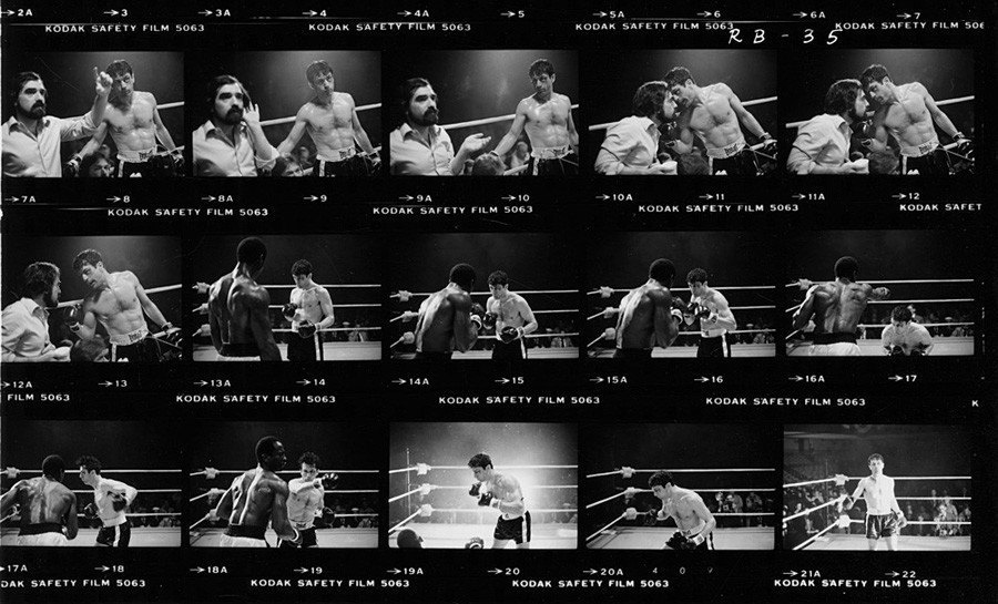 hollywood contact sheets raging bull robert deniro