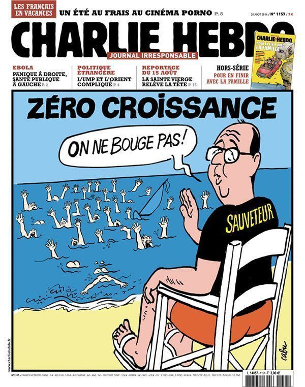 French President Charlie Hebdo Covers