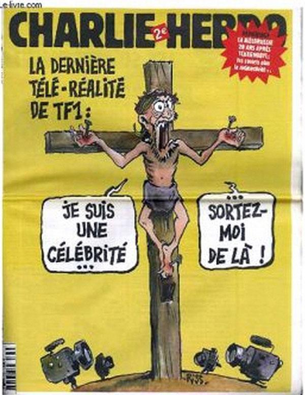 Jesus Ridiculed by Charlie Hebdo