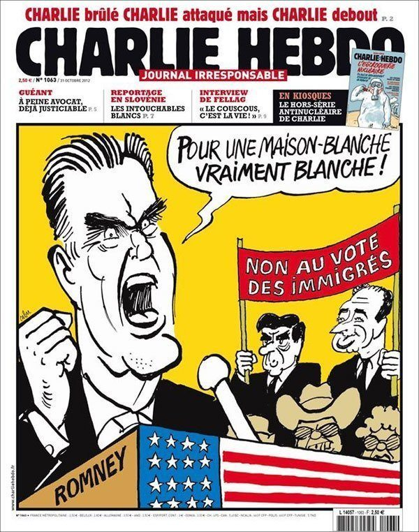 Mitt Romney Controversial Charlie Hebdo Covers
