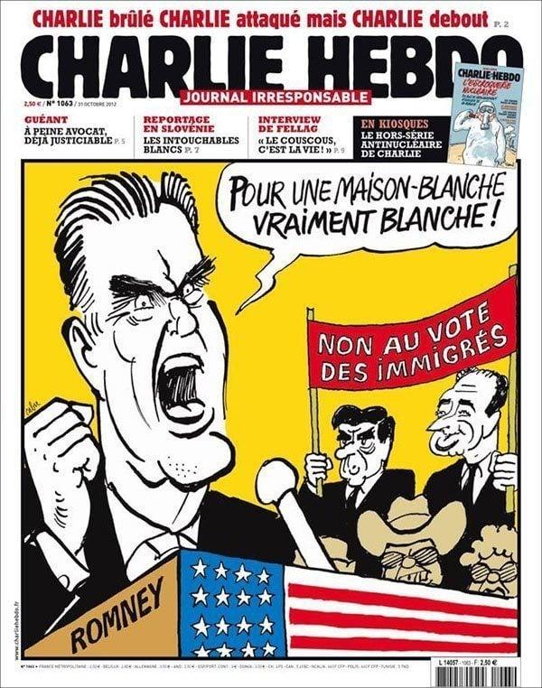 Mitt Romney Controversial Charlie Hebdo Covers